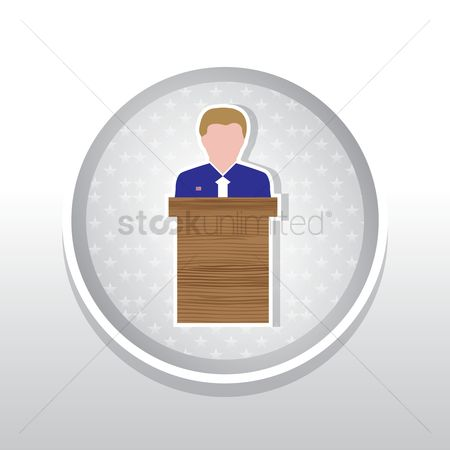 Lecture : Man at podium