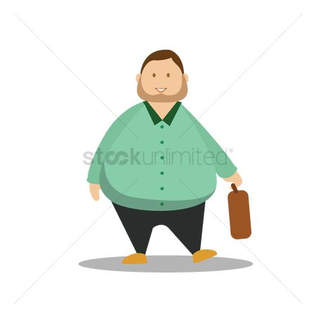 Vectors : Man holding suitcase