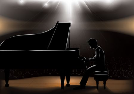 Musicals : Man playing piano