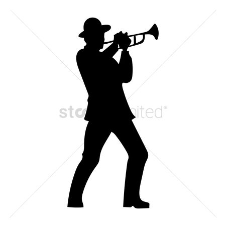 Trumpets : Man playing trumpet