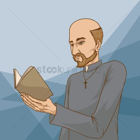 Priest : Man reading bible