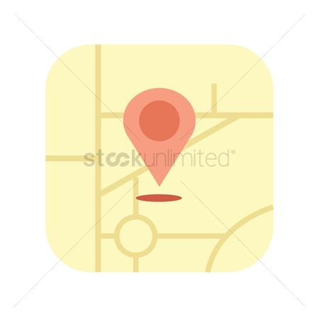 Map pin : Map location icon