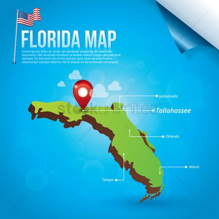 Capitals : Map of florida state