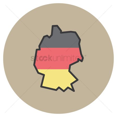 Icons : Map of germany