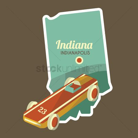 Indiana : Map of indianapolis state