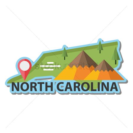 Navigators : Map of north carolina state