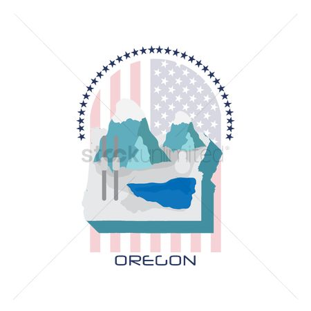 Oregon : Map of oregon state