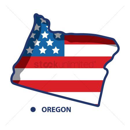 Oregon : Map of oregon