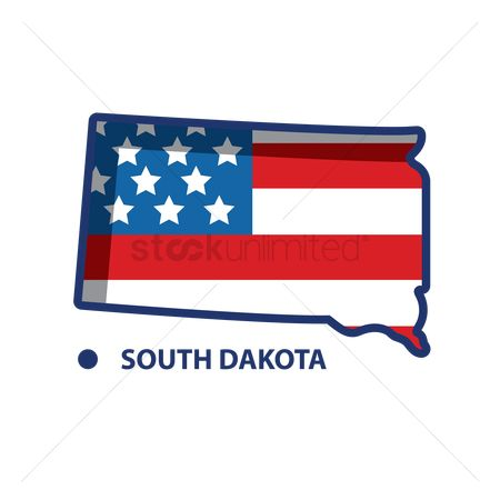 Dakota : Map of south dakota
