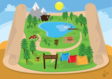 Tents : Map of summer camp