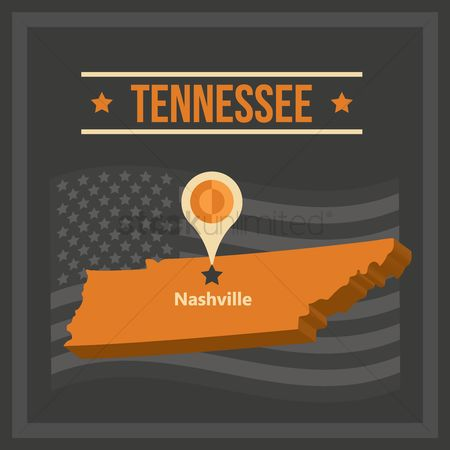 Tennesse : Map of tennessee state