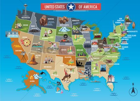 Spring : Map of usa