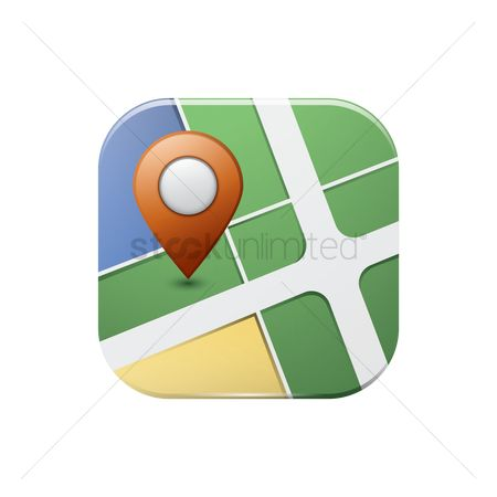 Map pointer : Map pointer icon