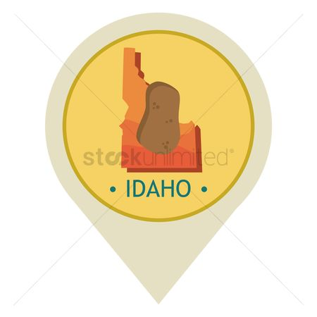 Navigators : Map pointer with idaho state