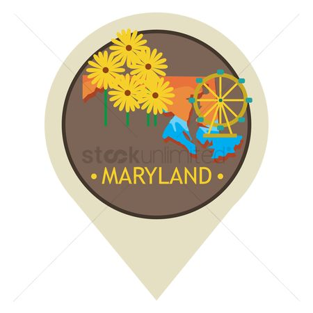 Navigator : Map pointer with maryland state