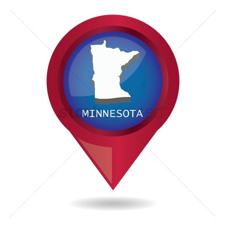 Minnesota : Map pointer with minnesota state