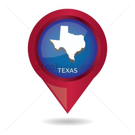 Navigators : Map pointer with texas state