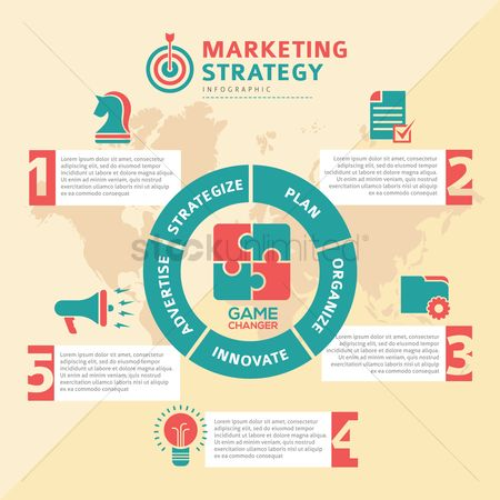 Business strategy : Marketing strategy infographics