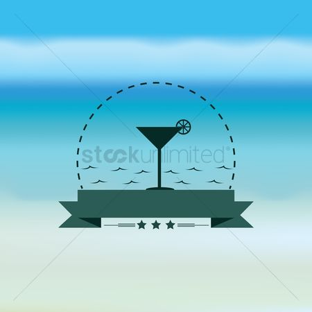 Coast : Martini glass with banner