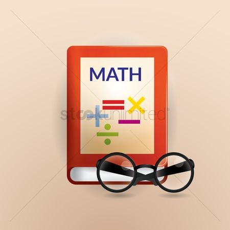 Additonal : Math book with spectacles