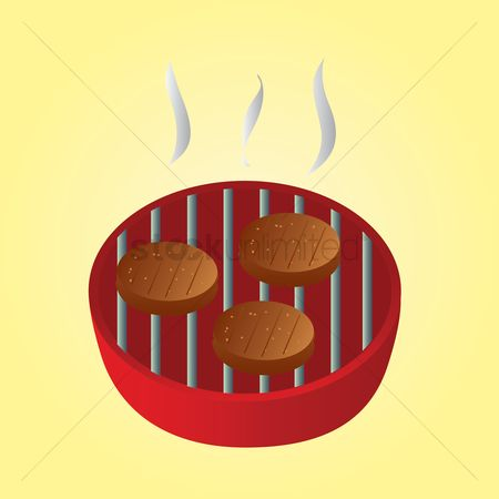 Aroma : Meat patties grilling on the barbeque grill