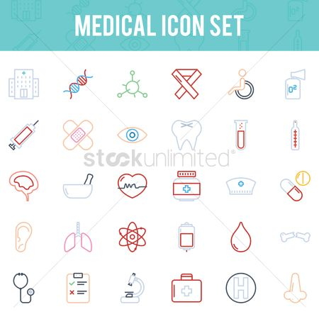 Dna : Medical icon set