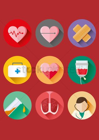 Health cares : Medical icons