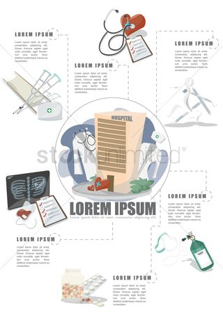 Health cares : Medical infographic of a hospital