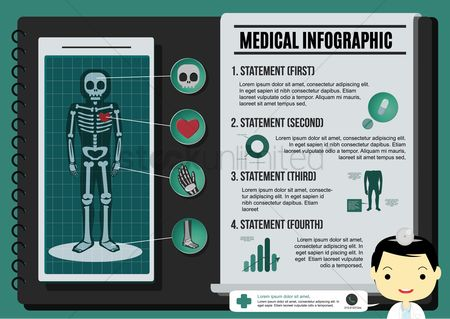 Surgeon : Medical infographic