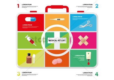 Medical : Medical kit infographic