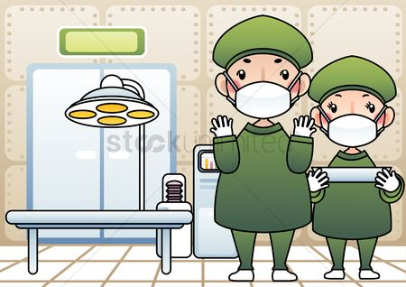 Staffs : Medical staff in operation theater