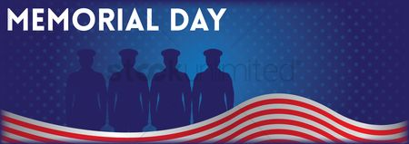 Soldiers : Memorial day banner