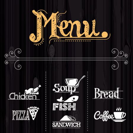 Junk food : Menu background