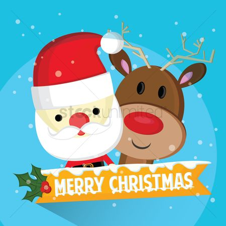 Santa : Merry christmas greeting