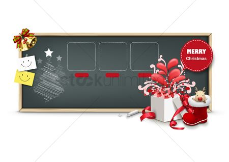 Gifts : Merry christmas template
