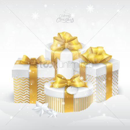 Gifts : Merry christmas with gift boxes