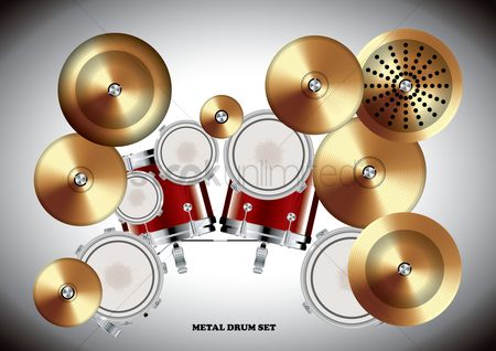Drums : Metal drum set