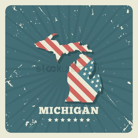 Oldfashioned : Michigan map