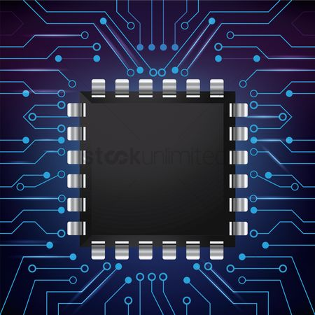 Chip : Microchip on circuit board wallpaper