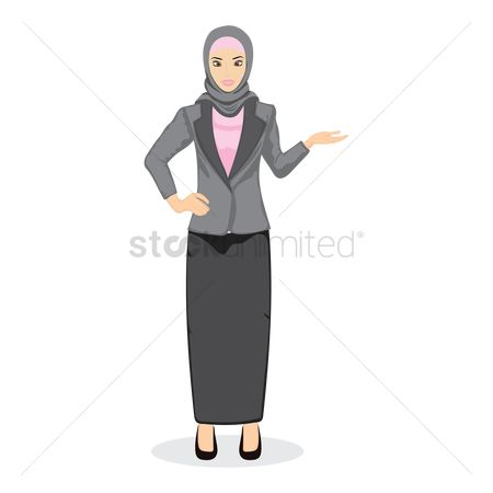 East : Middle eastern businesswoman