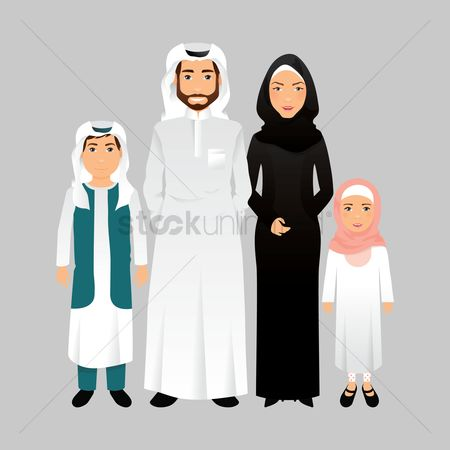 East : Middle eastern family portrait