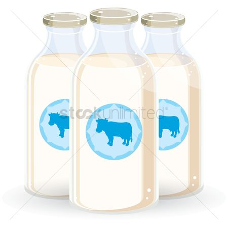 Dairies : Milk bottles