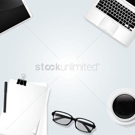 Clean : Minimalist table workspace