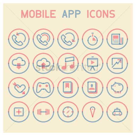 Audio book : Mobile app icons