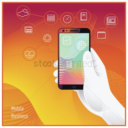 User interface : Mobile business concept