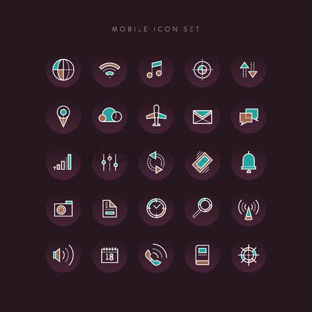 Wheel : Mobile icon set
