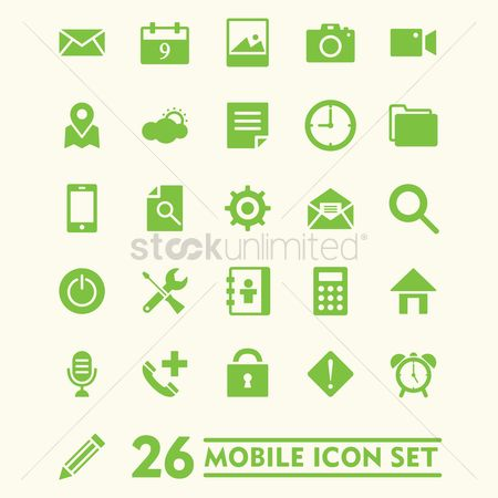 Power button : Mobile icon set