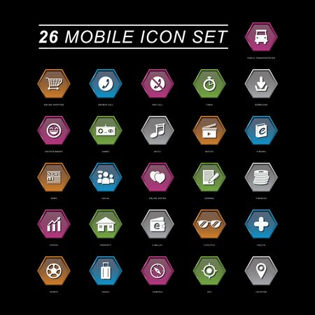Online dating icon : Mobile icon set