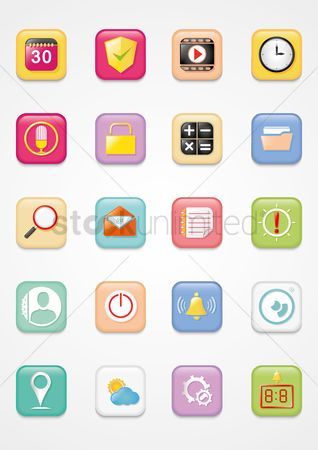 Earth  graphic vector : Mobile icons