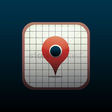 Navigators : Mobile map icon